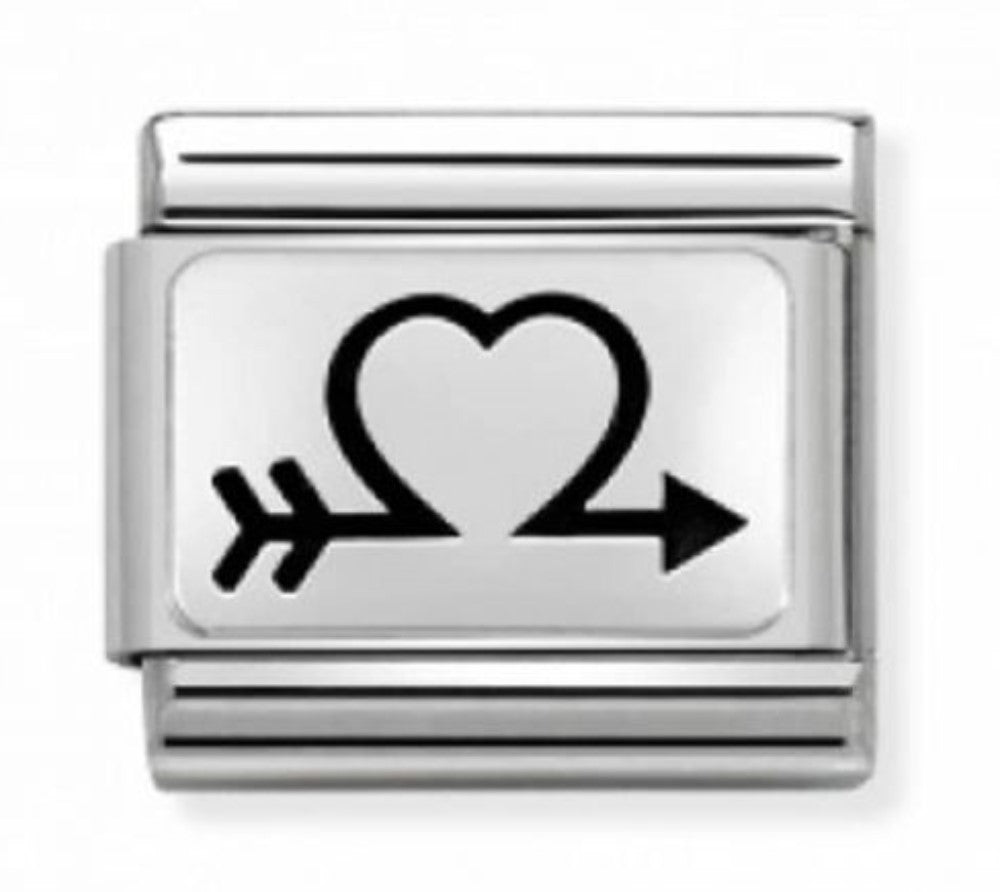 Nomination Open Heart and Arrow Charm