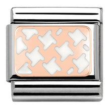 Load image into Gallery viewer, Nomination Rose Gold Houndstooth White Charm