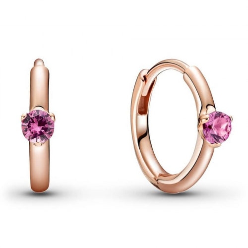 Pandora Rose Pink Hoop Earrings