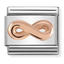 Load image into Gallery viewer, Nomination Rose Gold Infinity Charm