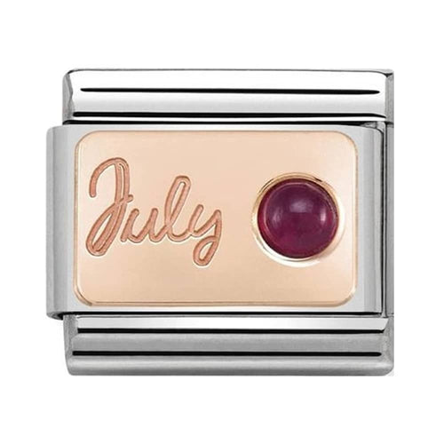 Nomination Rose Gold July Ruby Birthstone Charm