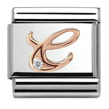 Load image into Gallery viewer, Nomination Rose Gold Initial C Charm