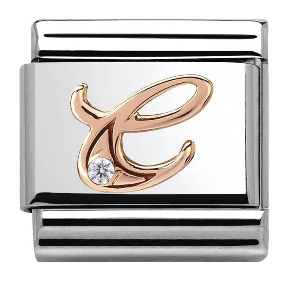Nomination Rose Gold Initial C Charm