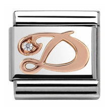 Load image into Gallery viewer, Nomination Rose Gold Initial D Charm