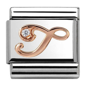 Nomination Rose Gold Initial T Charm