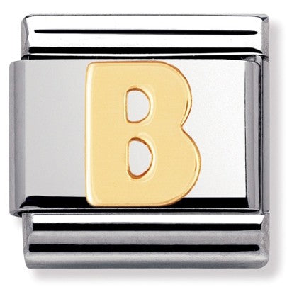 Nomination Yellow Gold Initial B Charm