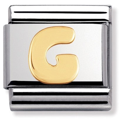 Nomination Yellow Gold Initial G Charm