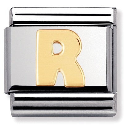 Nomination Yellow Gold Initial R Charm