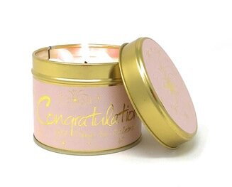 Congratulations Candle Tin By Lilyflame