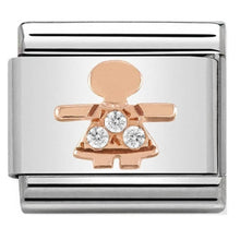 Load image into Gallery viewer, Nomination Rose Gold Little Girl Charm