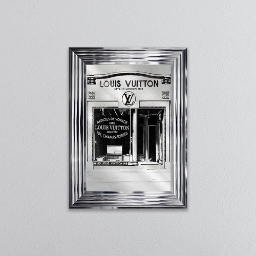 Louis Shop Front Picture in Chrome Frame