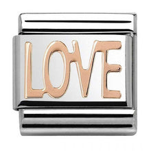 Load image into Gallery viewer, Nomination Rose Gold Love Charm