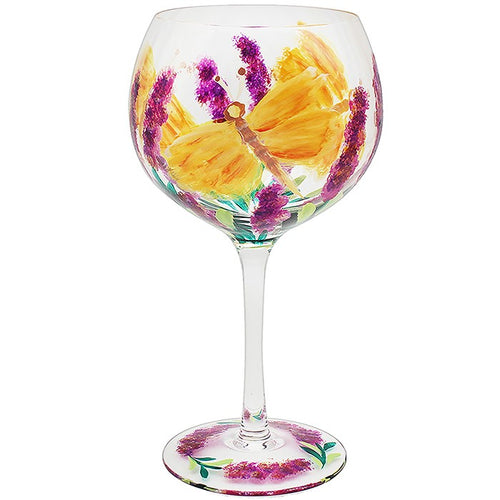 Butterfly Hand Painted Gin Glass by Lynsey Johnstone Beautifully Boxed