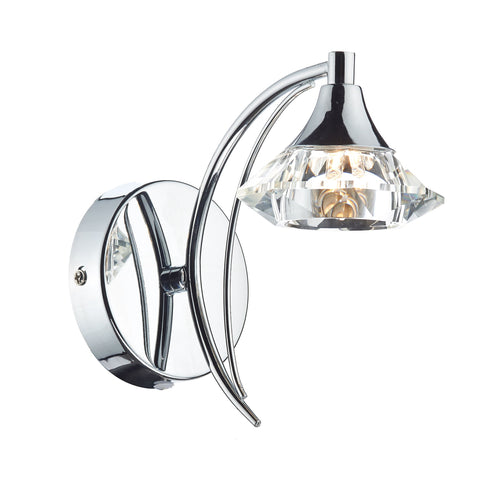 1 Light Wall Light - Polished Chrome