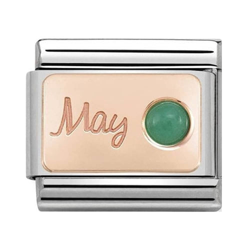 Nomination Rose Gold May Birthstone Emerald Charm