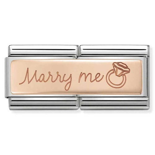 Nomination Rose Gold Double Link Marry Me Charm
