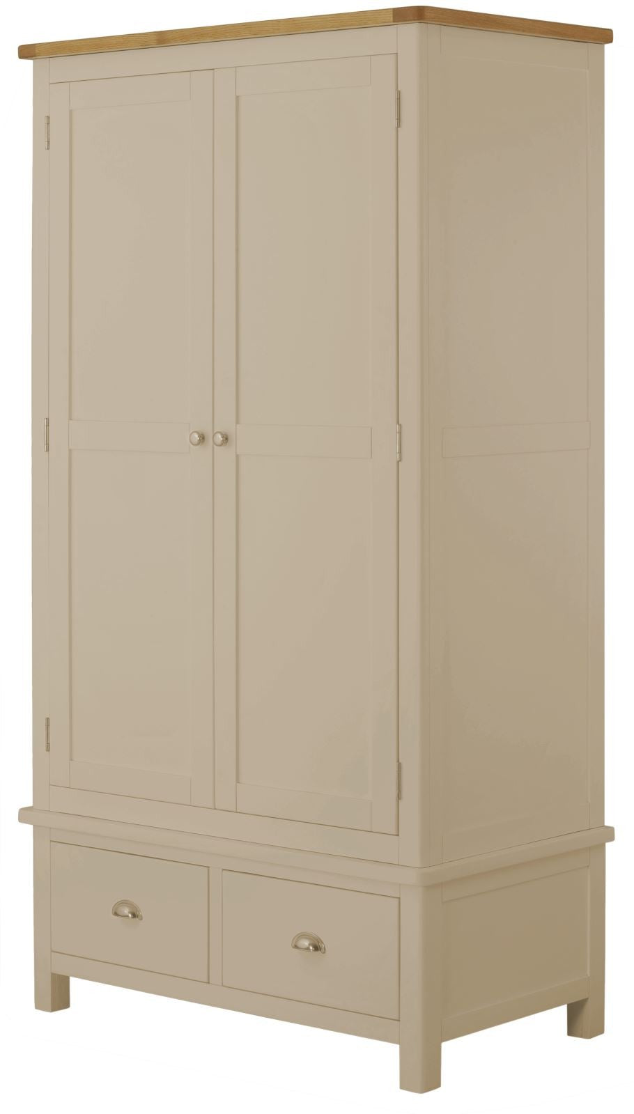 Cottage Gents Wardrobe Pebble