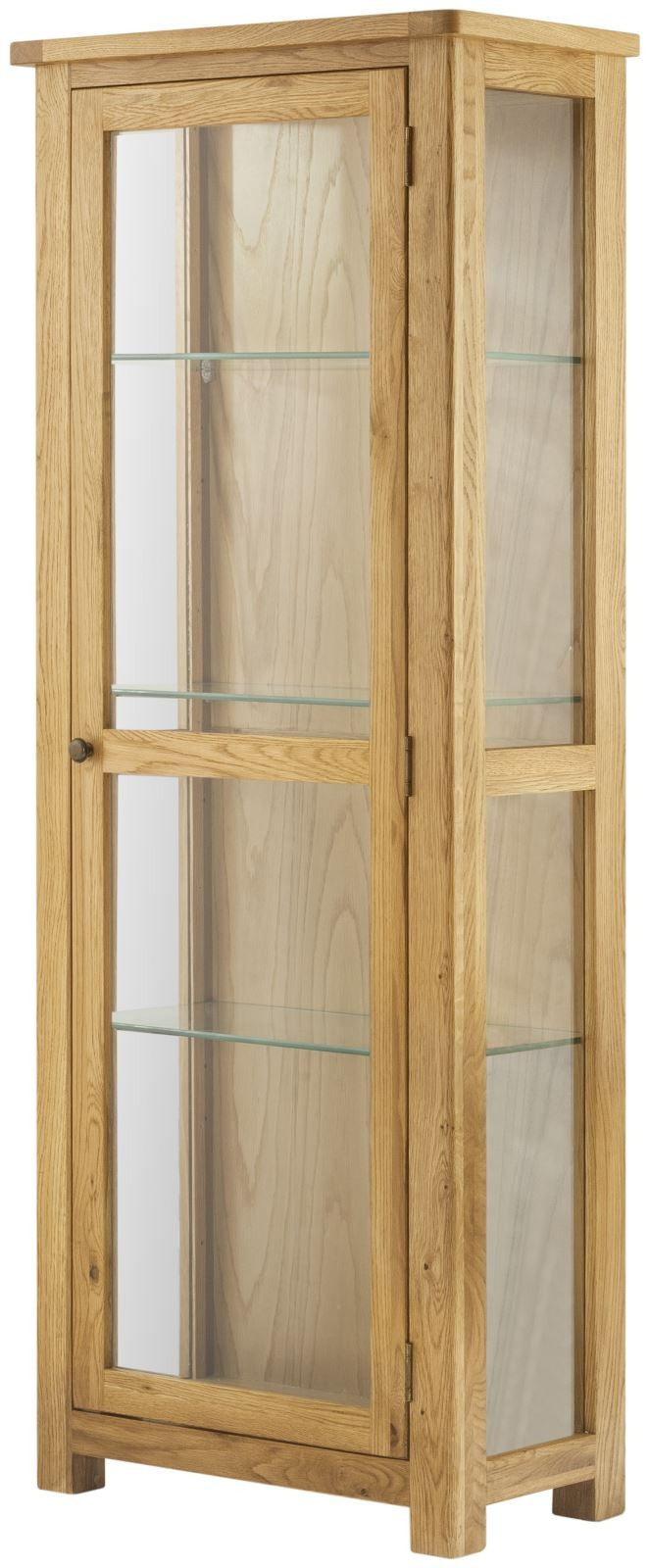 Cottage Display Cabinet Oak - Tylers Department Store
