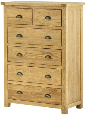 Cottage 2 Over 4 Chest Oak