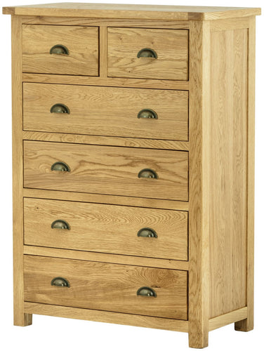 Cottage 2 Over 4 Chest Oak - Tylers Department Store