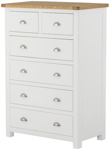 Cottage 2 Over 4 Chest White - Tylers Department Store