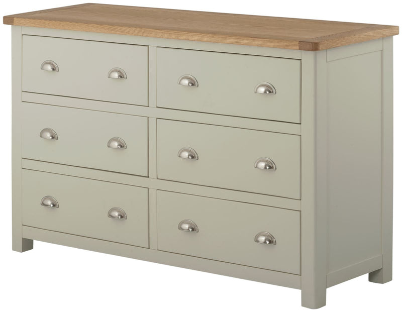 Cottage 6 Drawer Chest Stone - Tylers Department Store
