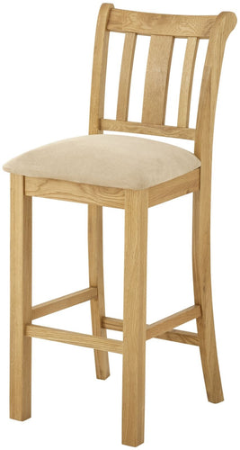 Cottage Bar Stool Oak
