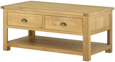 Cottage 2 Draw Coffee Table Oak