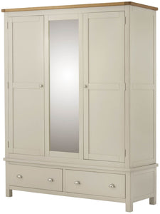 Cottage Triple Wardrobe Cream - Tylers Department Store