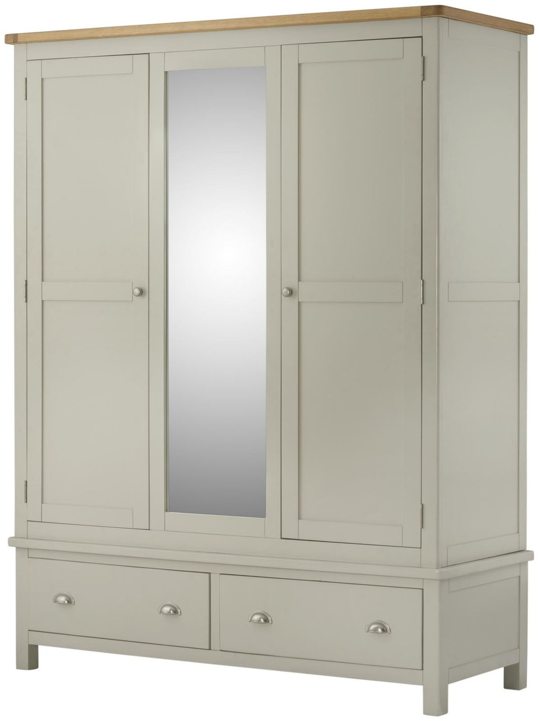 Cottage Triple Wardrobe Stone - Tylers Department Store