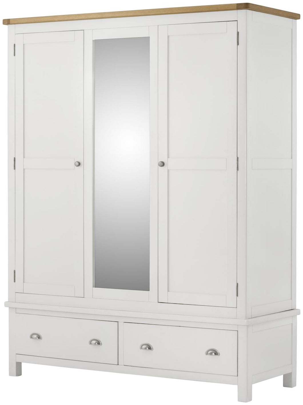 Cottage Triple Wardrobe White - Tylers Department Store