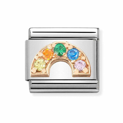 Nomination Composable Classic Rose Gold Rainbow Charm