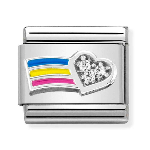 Nomination Composable Classic Rainbow Heart Celebrate Everyday Charm