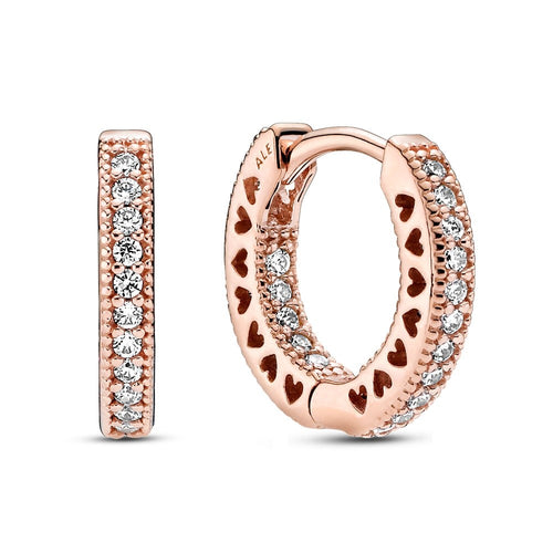 Pandora Rose Pave Small Hoop Earrings