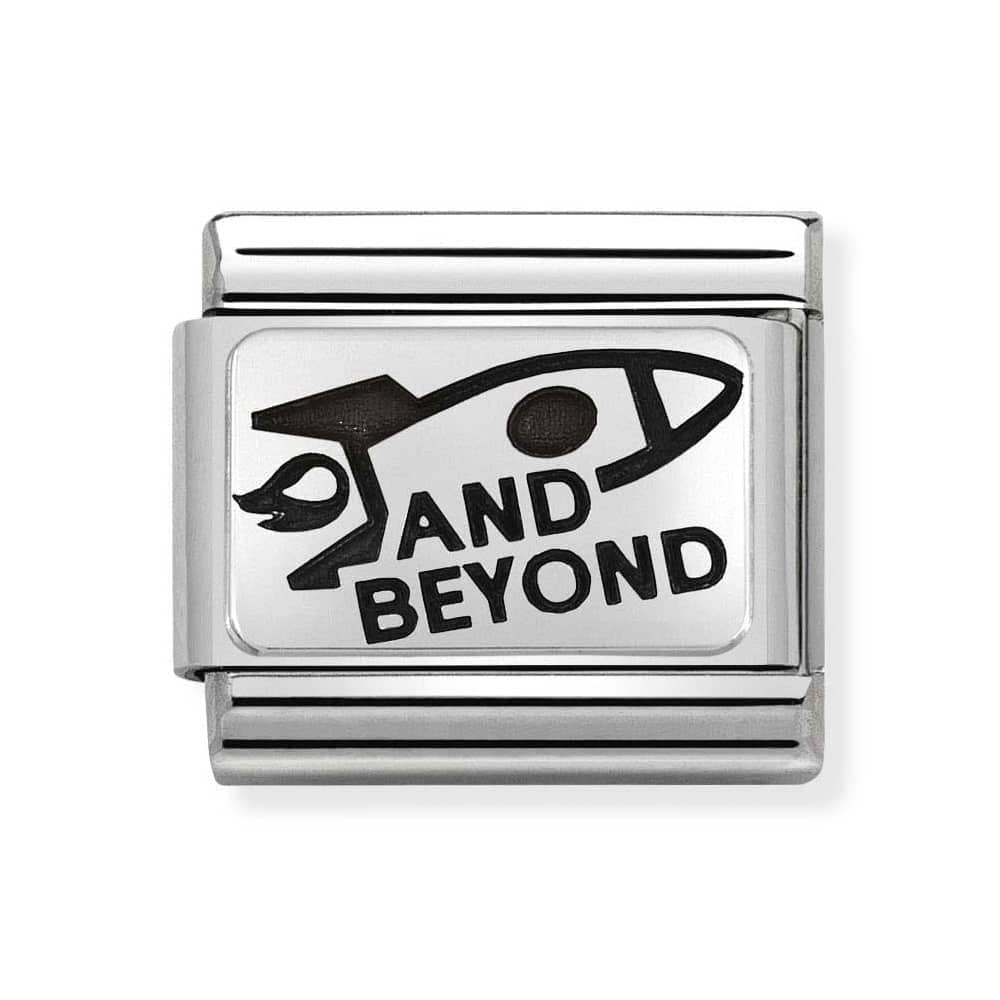 Nomination And Beyond Rocket Ship Charm