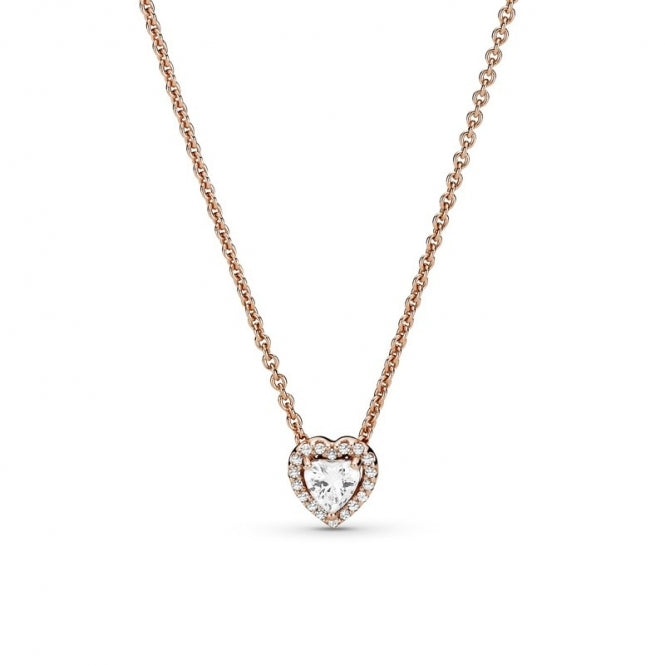 Pandora Rose Elevated Heart Necklace - Christmas Collection