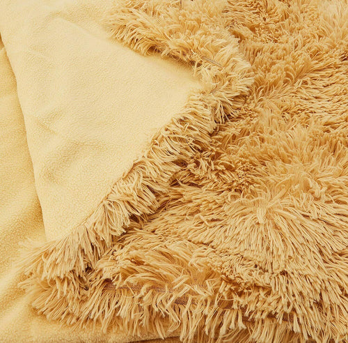 Catherine Lansfield - Cuddly Shaggy Ochre Throw