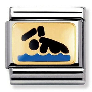 Nomination Yellow Gold Swimmer Charm