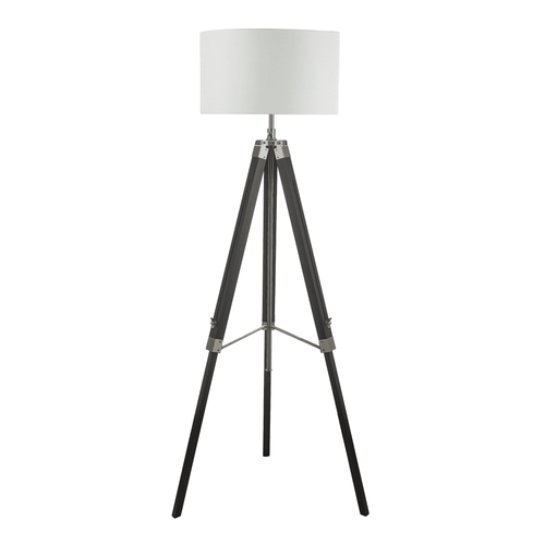 Tripod Floor Lamp With Shade - Black Wood