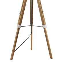 Load image into Gallery viewer, Tripod Floor Lamp With Shade - Light Wood