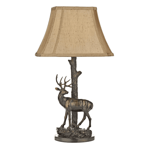 Stag Table Lamp With Shade