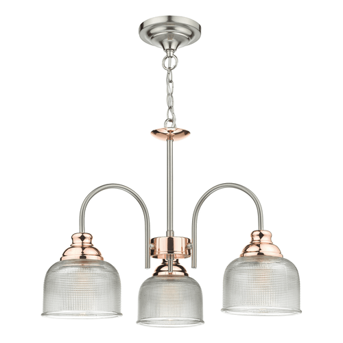 3 Light Copper Pendant Ceiling Light