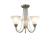 Load image into Gallery viewer, 3 Light Antique Brass Ceiling Light