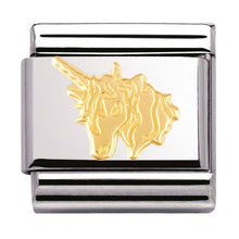 Load image into Gallery viewer, Nomination Yellow Gold Unicorn Charm