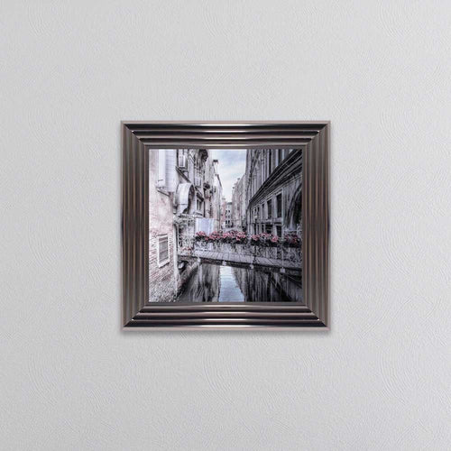 Venice 1 Small Picture with Silver Metallic Frame