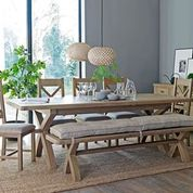 Load image into Gallery viewer, Hope Dining Bench & Cushion -  Check Natural