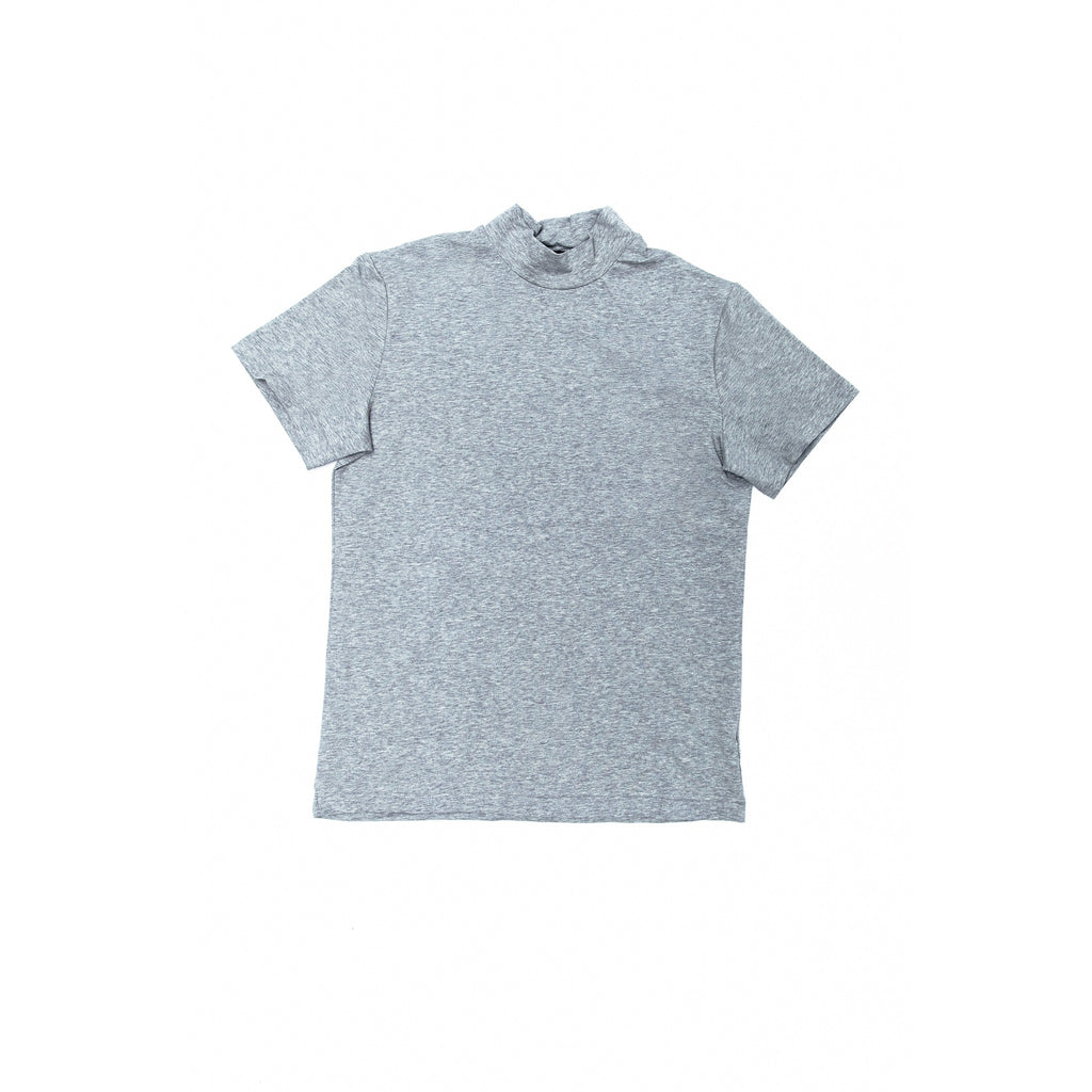 Long neck Tee gray