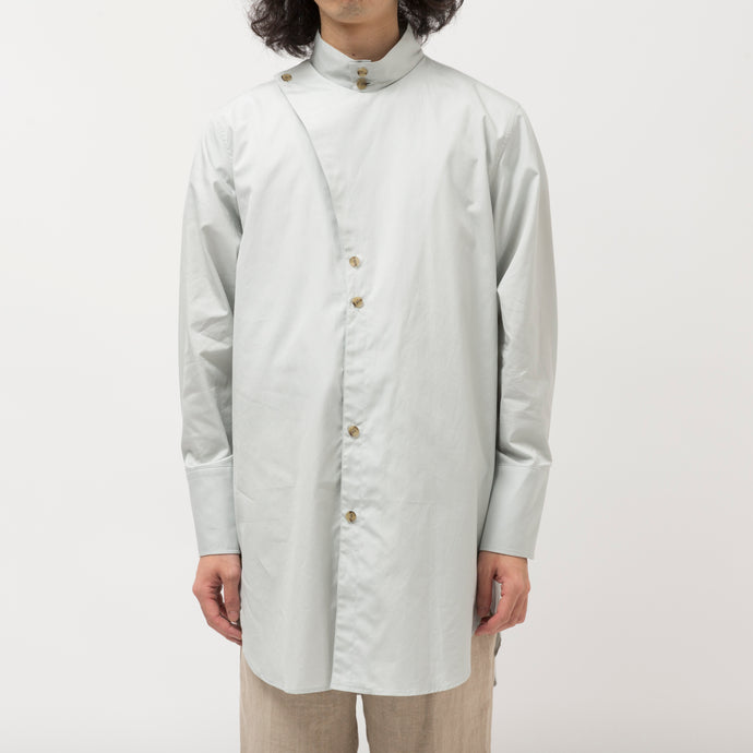 Side vents Long Shirt/GRAY
