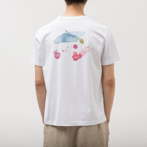Flower Bleeding Tshirt/WHITE