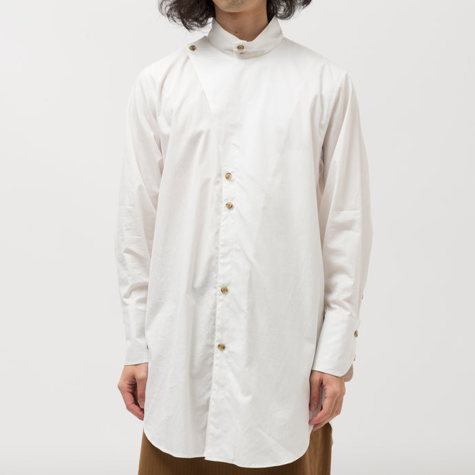 Side vents Long Shirt/OFF WHITE